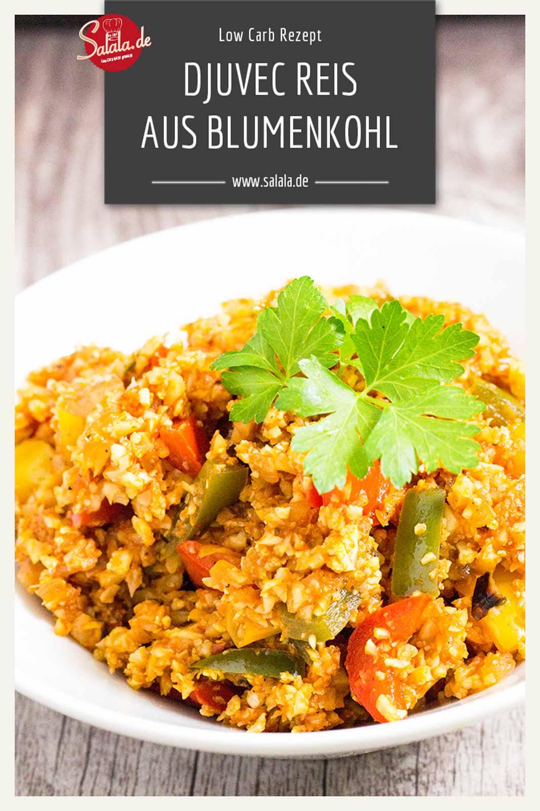 Djuvec Reis ist eines von Vronis Lieblingsgerichten. Irgendwie sind wir in den letzten 3 Jahren in denen wir Low Carb leben aber nie so richtig auf die Idee gekommen eine Low Carb Variante des Djuvec Reis mit Blumenkohlreis zu machen. Bis jetzt.  #lowcarb #lowcarbrezepte #blumenkohlreis #ketorezpete