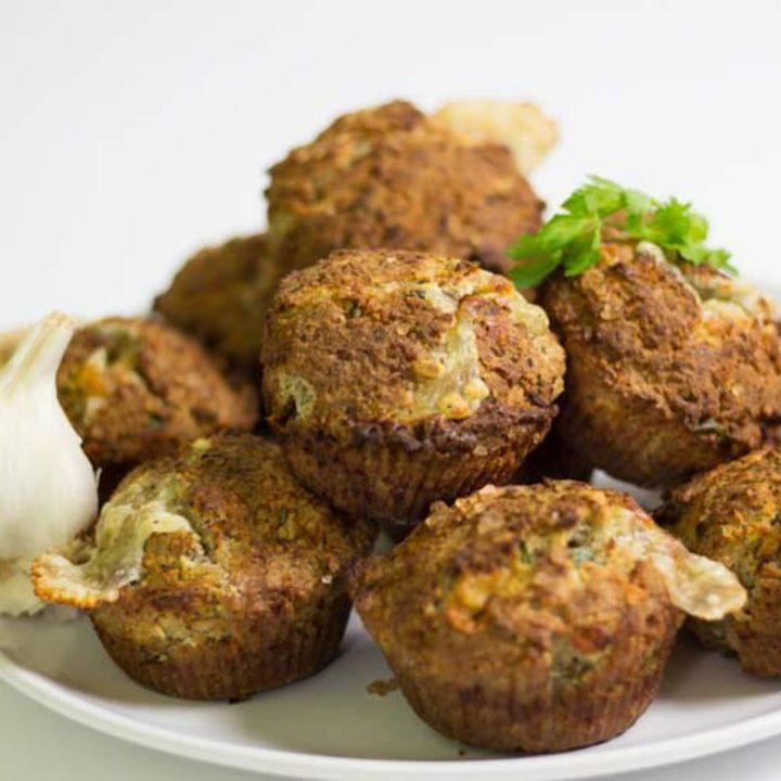 Käse Knoblauch Muffins low carb backen glutenfrei salala.de Rezept