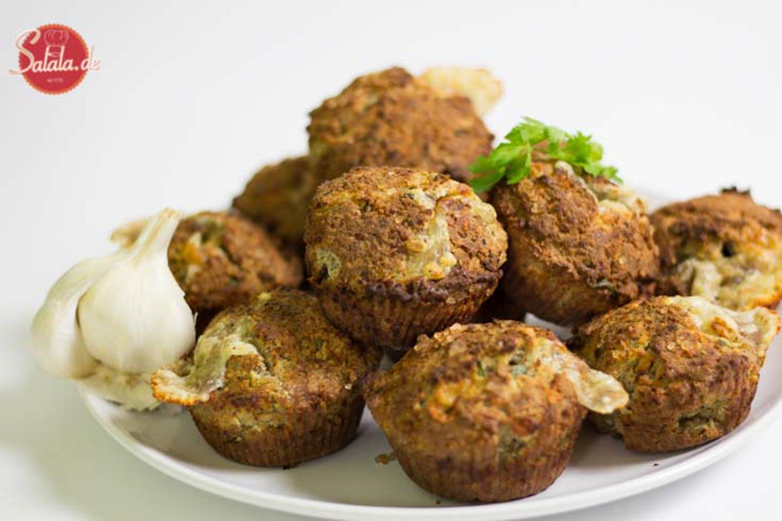 Käse-Knoblauch-Muffins low carb backen glutenfrei salala.de Rezept