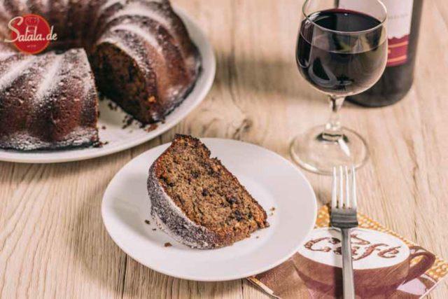 Rotweinkuchen ohne Mehl | low carb