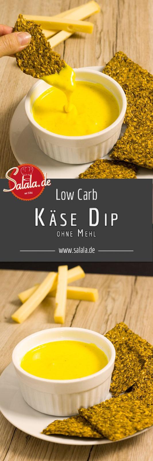 Käse-Dip selber machen Cheese Dip für Nachos ohne Mehl zuckerfrei low carb salala.de Rezept