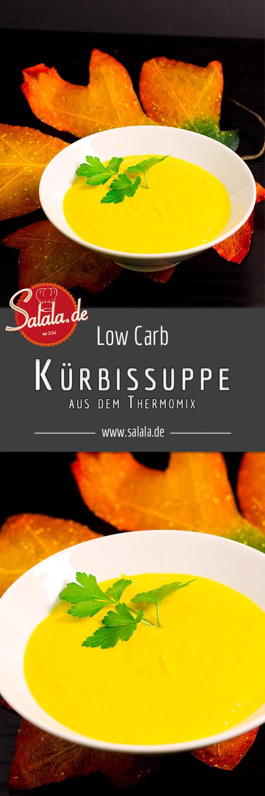 Schnelle Low Carb Kürbissuppe aus dem Thermomix - by salala.de - Thermomix Kürbissuppe Herbstrezept Butternusskürbis Low Carb Glutenfrei