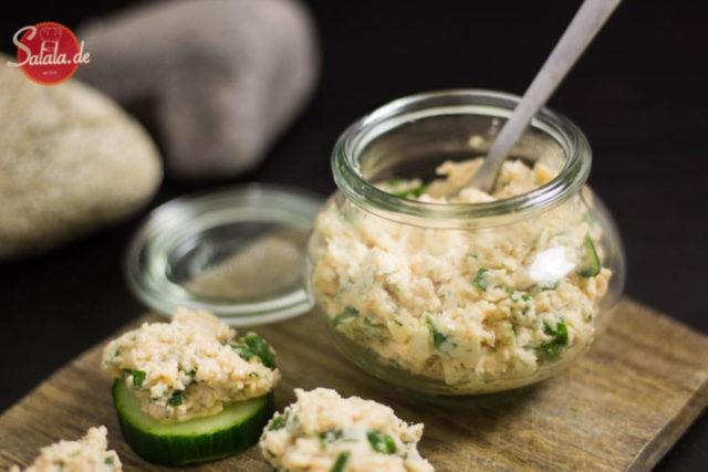 Lachsaufstrich Rezept schnell einfach und Low Carb salala.de Rezept Frischkäse