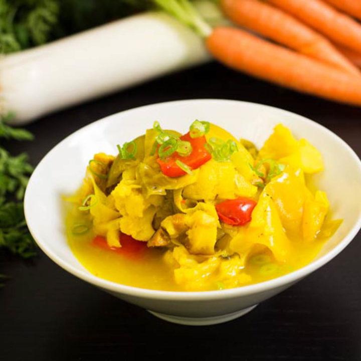 Lauch Blumenkohl Eintopf by salala.de richtig günstiges Essen für jeden Tag low carb vorkochen
