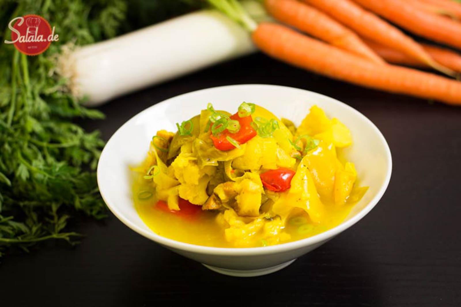 Lauch Blumenkohl Eintopf - by salala.de - richtig günstiges Essen für jeden Tag low carb vorkochen