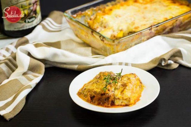 Kürbislasagne – Lasagne mit Low Carb Bechamel