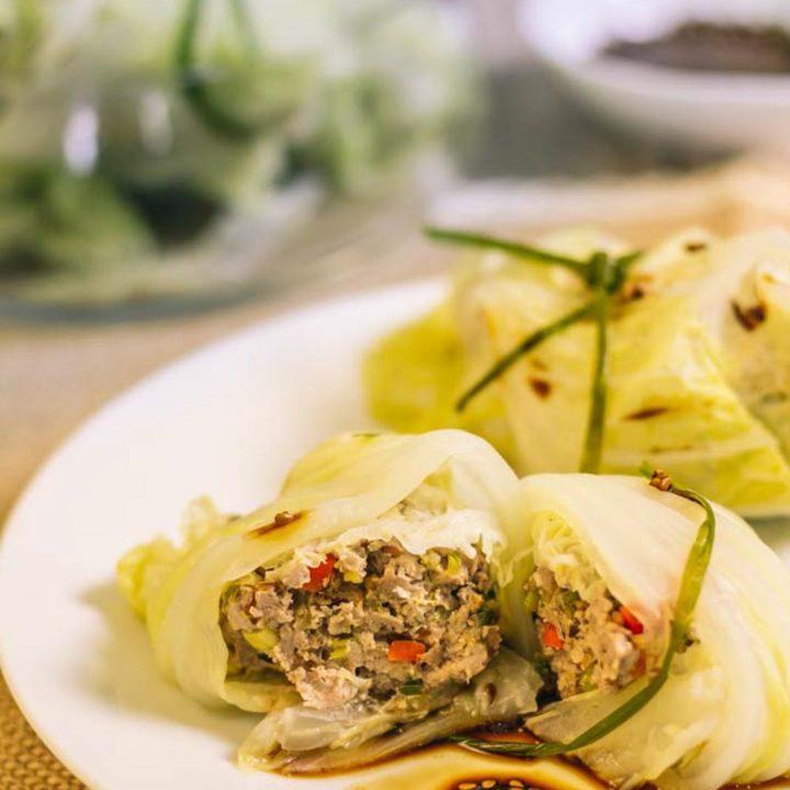 Gefüllte Chinakohlröllchen low carb rezept by salala.de Schweinefilet Sesam Sojasauce Asiatisch glutenfrei Rezept 1