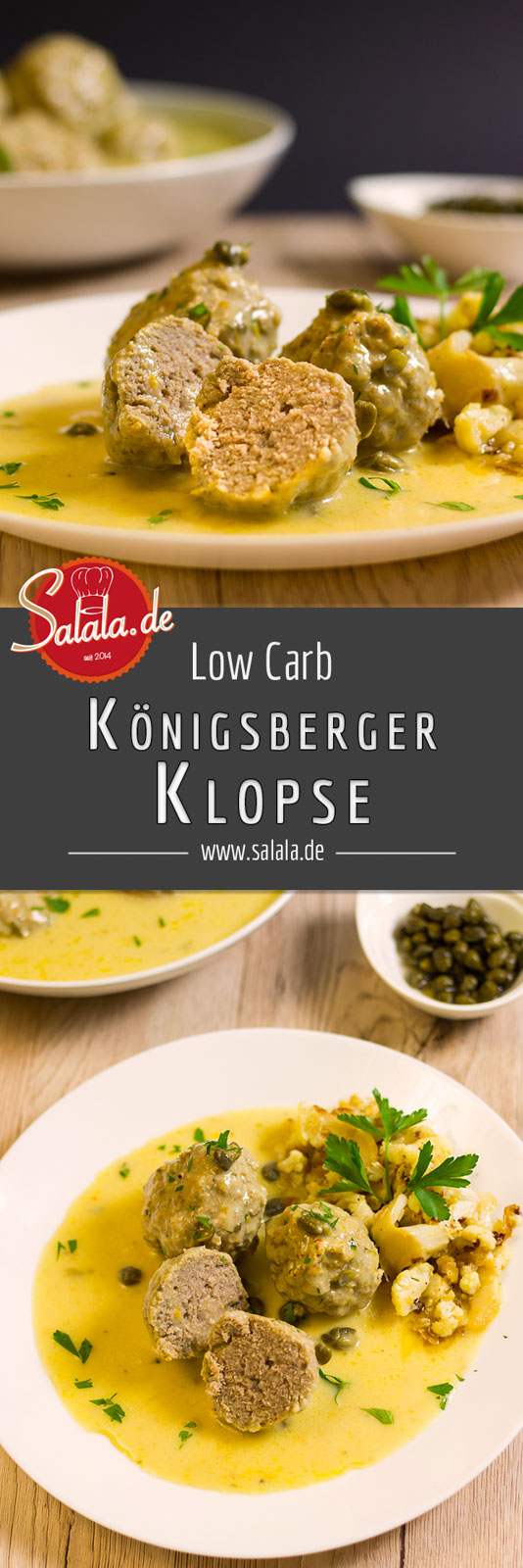 Königsberger Klopse ohne Mehl - low carb und glutenfrei