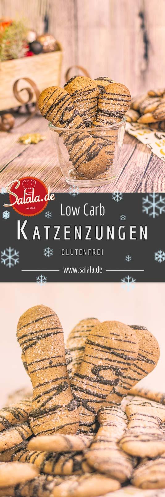 Low Carb Katzenzungen - by salala.de - Low Carb Weihnachsplätzchen Weihnachtsgebäck zuckerfrei mehlfrei ohne mehl glutenfrei