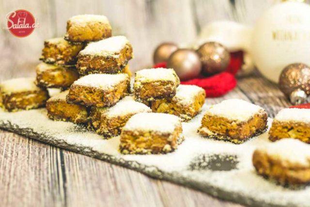 Low Carb Stollenkonfekt - by salala.de - Mehlfrei Zuckerfrei Weihnachten Weihnachtsgebäck Stollen Backen ohne Mehl Backen ohne Zucker