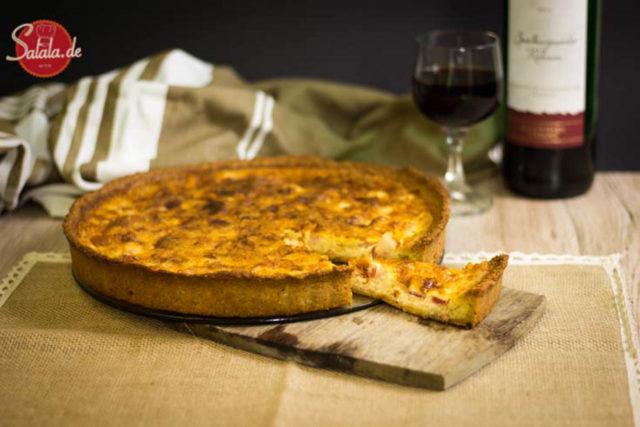Quiche Lorraine low carb und ohne Mehl - by salala.de - low carb Mürbeteig ohne Mehl