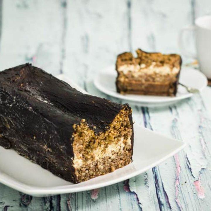 Walnuss Rum Kuchen low carb und ohne Mehl by salala.de Kuchen mit Rum Sahne und Schokoglasur zuckerfrei Rezept