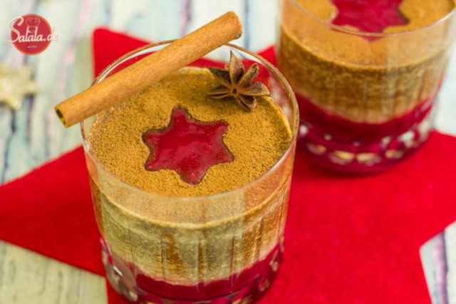 Bayrische Zimtcreme Low Carb Weihnachtsdessert - by salala.de - Weihnachten Nachspeise Zimt Tonkabohne Rum Whiskey ohne Zucker ohne Mehl