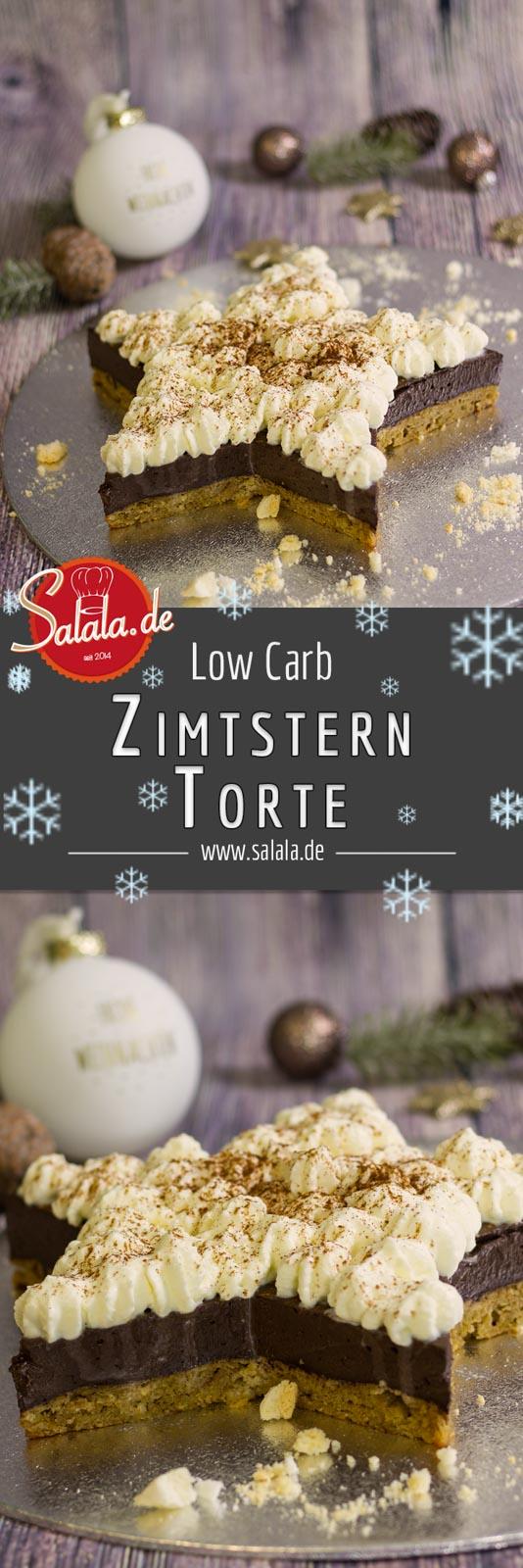 Low Carb Zimtsterntorte - by salala.de - glutenfrei backen ohne Zucker zuckerfrei ohne Mehl mehlfrei Schokolade Sahne Zimt Weihnachten - Annetts Backsübchen Foodadventskalender 2017