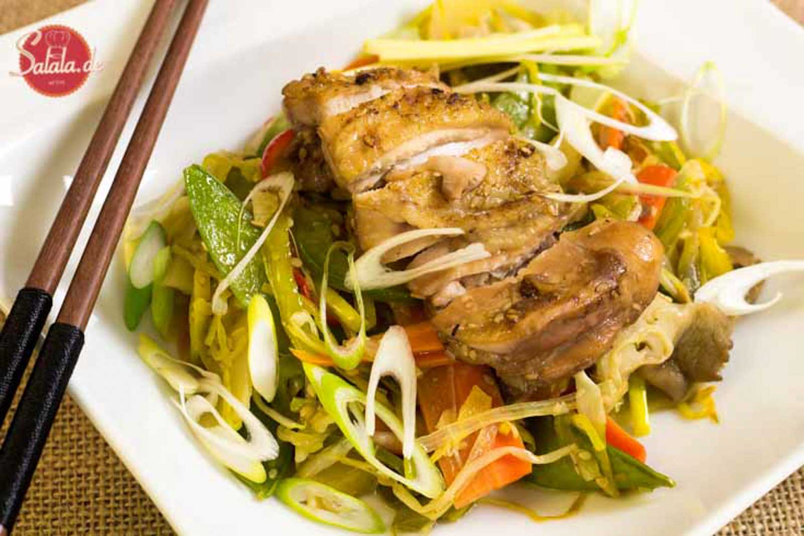 Chinapfanne mit Huhn | Low Carb