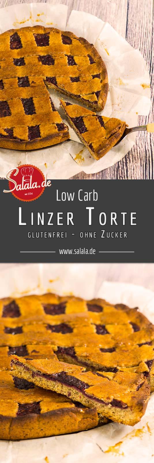 Linzer Torte Rezept - by salala.de - Low Carb glutenfrei ohne Mehl ohne Zucker mit selbstgemachter Marmelade salala.de mehlfrei zuckerfrei