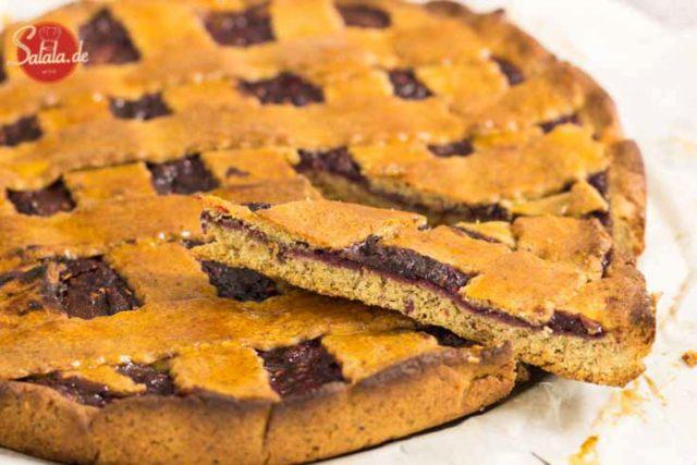 Linzer Torte Rezept - by salala.de - Low Carb glutenfrei ohne Mehl ohne Zucker mit selbstgemachter Marmelade salala.de selber machen