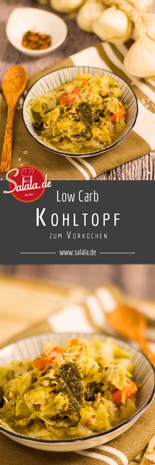Low Carb Kohltopf zum vorkochen - by salala.de - Weißkohl Wirsing Speck Hackfleisch vorkochen vorbereiten glutenfrei ohne Kartoffeln Eintopf zuckerfrei Rezept ohne Mehl