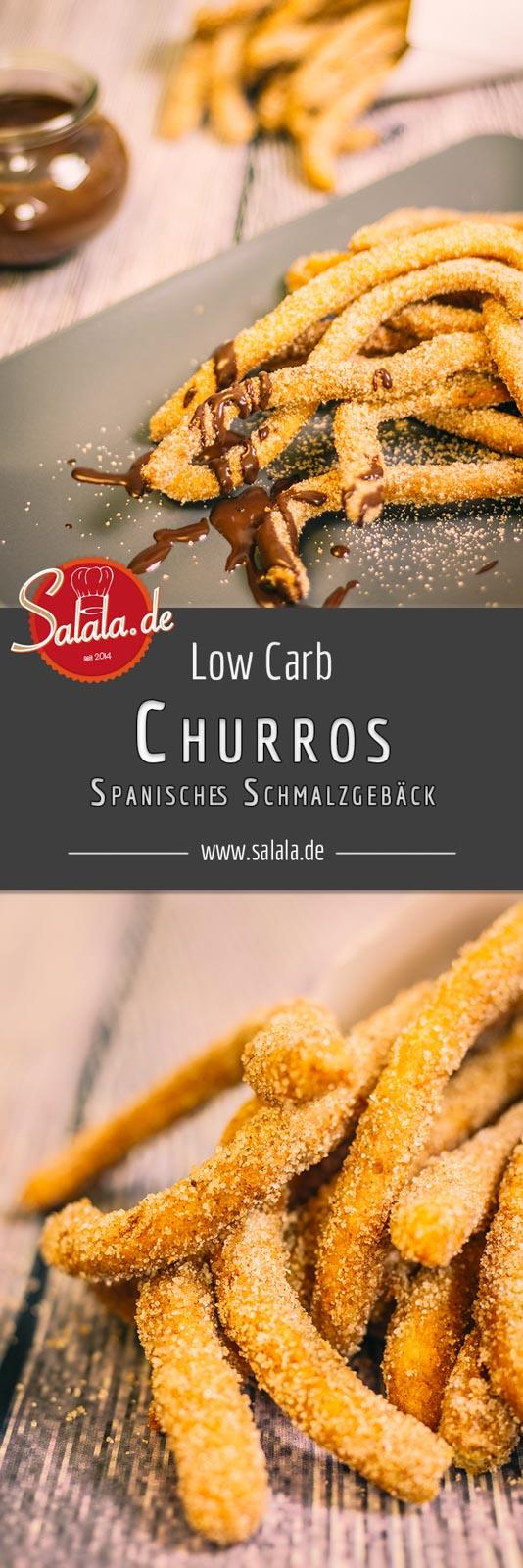 Churros Low Carb Rezept Spanisches Schmalzgebäck ohne Mehl und ohne Zucker Low Carb Brandteig