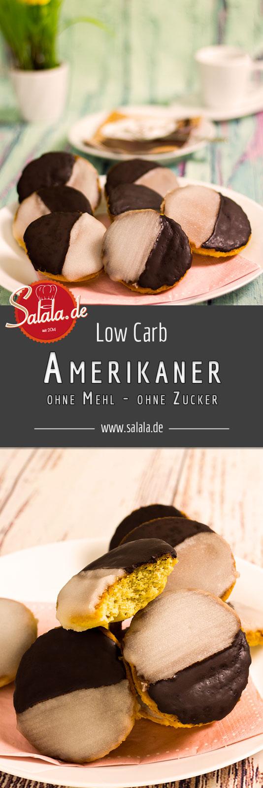 Low Carb Amerikaner - by salala.de - Fasching Karneval Fastnacht Gebäck ohne Mehl zuckerfrei Rezept selber machen mehlfrei