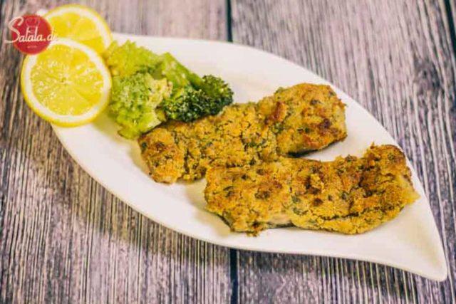 Oberpfälzer Karpfenfilet Rezept Low Carb Fisch Rezept mit knuspriger Panade und Meerrettich LCHF Rezept und glutenfrei