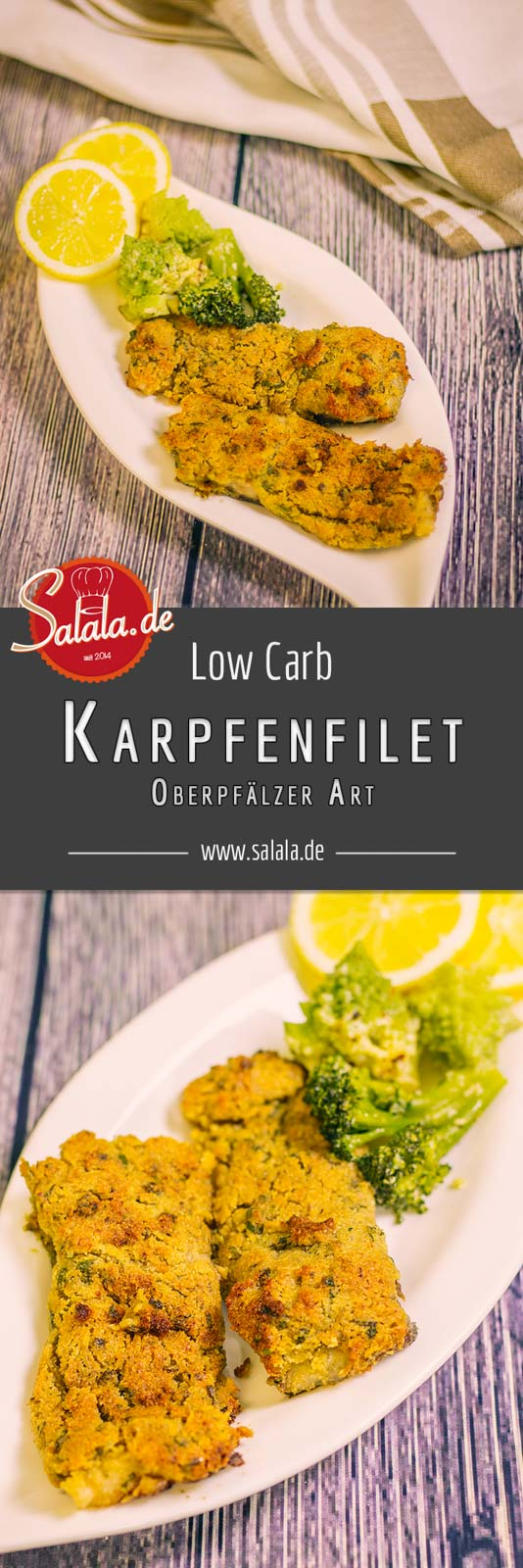 Oberpfälzer Karpfenfilet Rezept Low Carb Fisch Rezept mit knuspriger Panade und Meerrettich