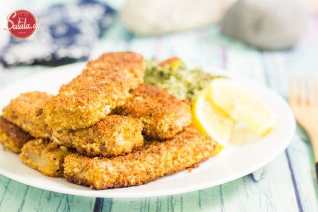 Fischstäbchen selber machen Low Carb und glutenfrei