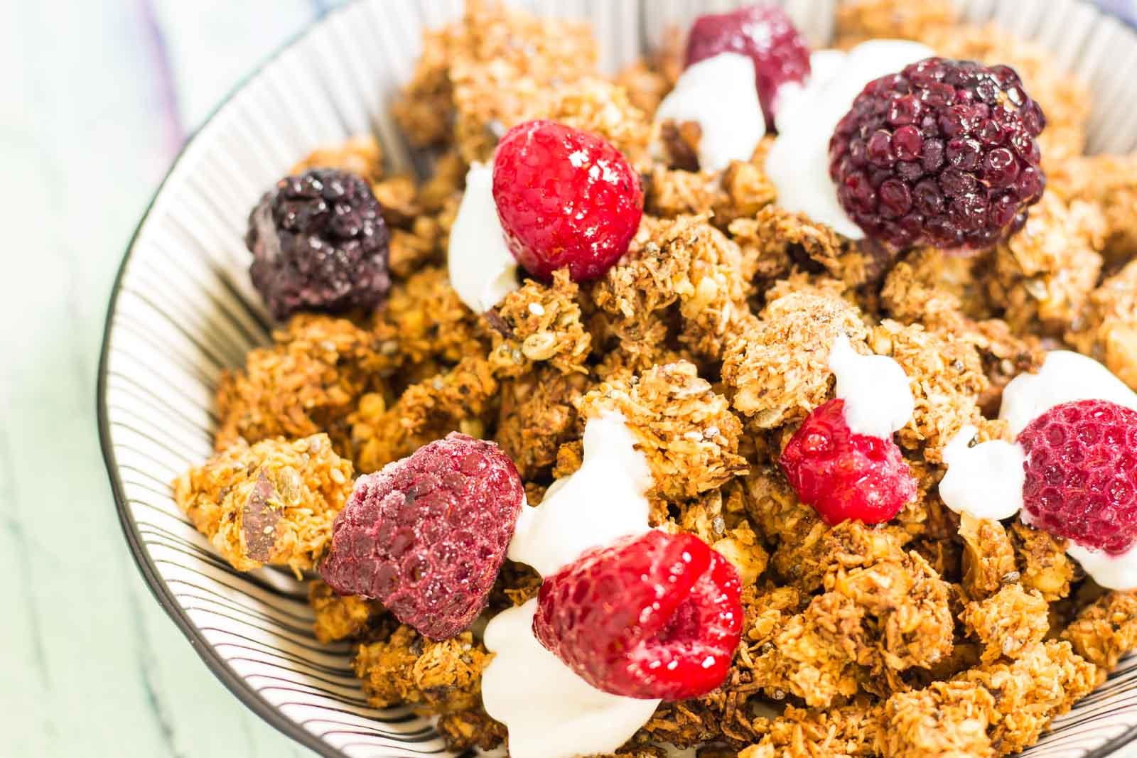 Knuspermüsli – Low Carb, zuckerfrei und glutenfrei