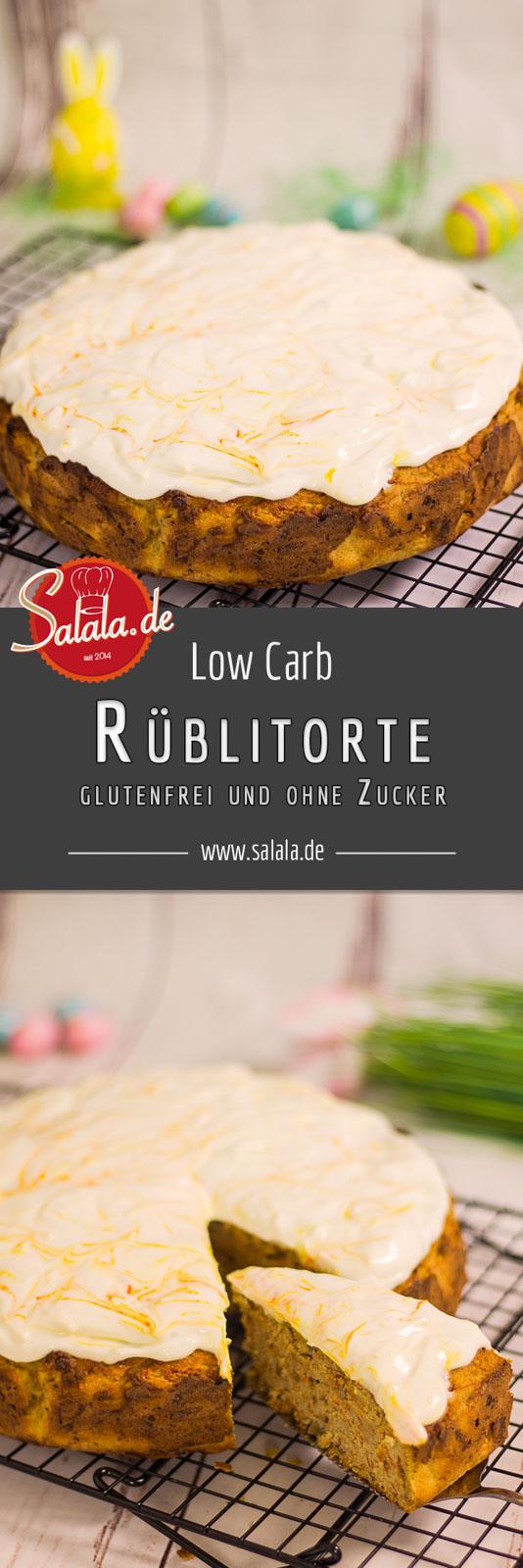Rüblitorte backen Rezept Low Carb ohne Zucker Ostern 2018 glutenfrei