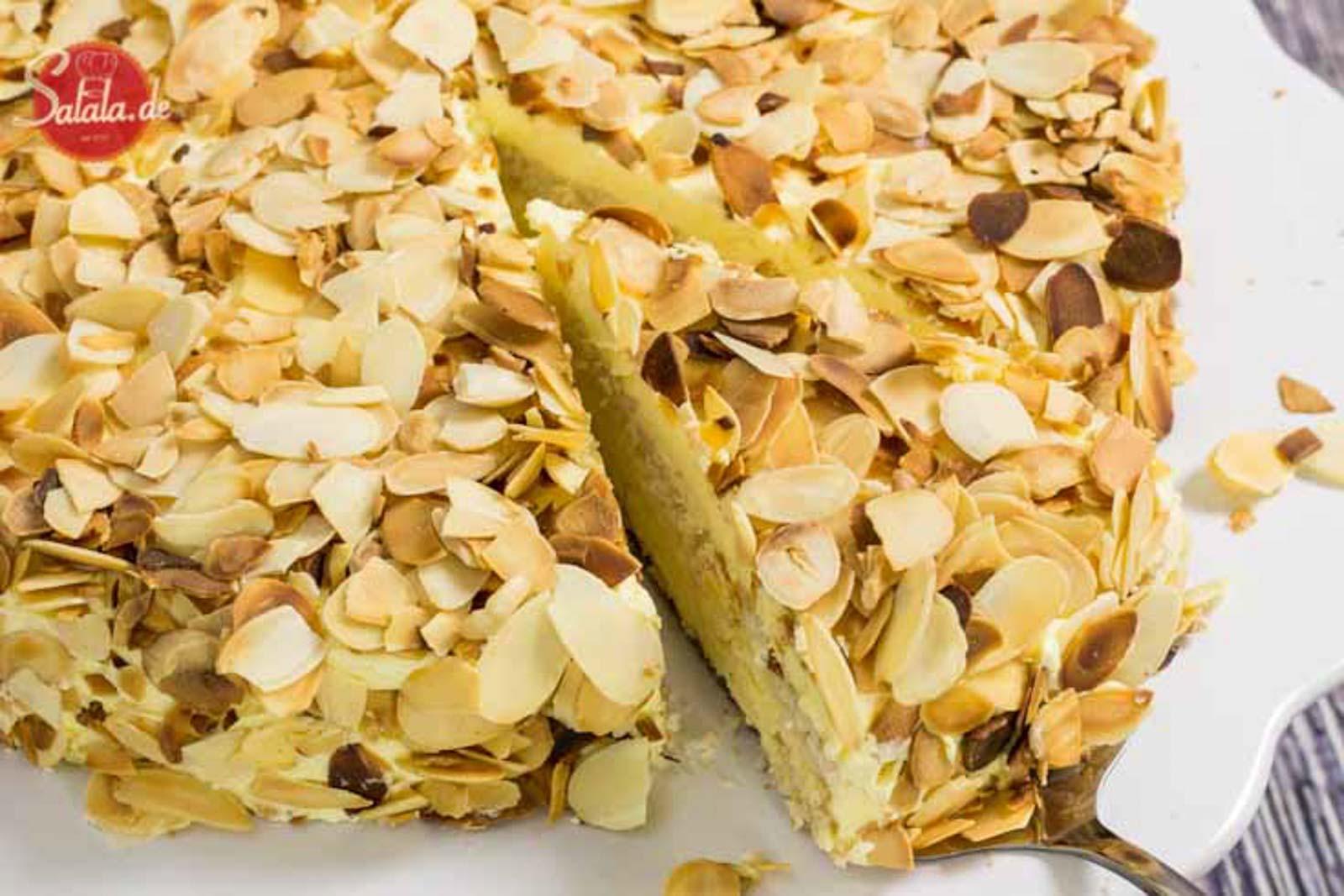 Schwedische Mandeltorte nach Sallys Tortenwelt als Low Carb Rezept ohne Zucker und glutenfrei salala.de Selber machen