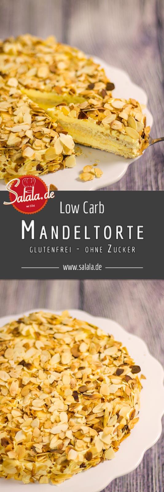 Schwedische Mandeltorte nach Sallys Tortenwelt als Low Carb Rezept ohne Zucker und glutenfrei salala.de