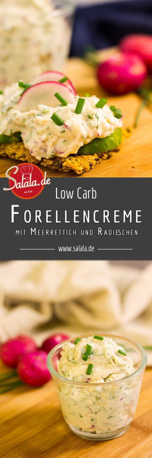 Forellencreme mit Meerrettich und Radieschen selber machen Low Carb Rezept by salala.de