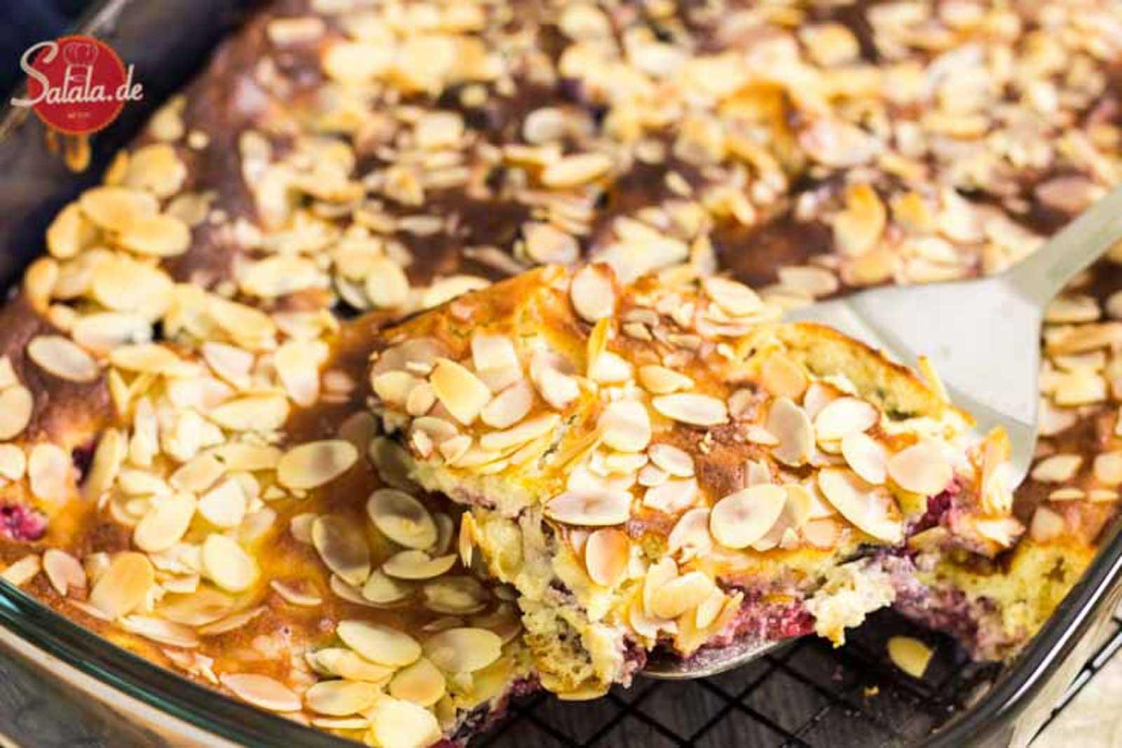 Quarkauflauf mit Himbeeren und Heidelbeeren Rezept ohne Mehl und ohne Zucker