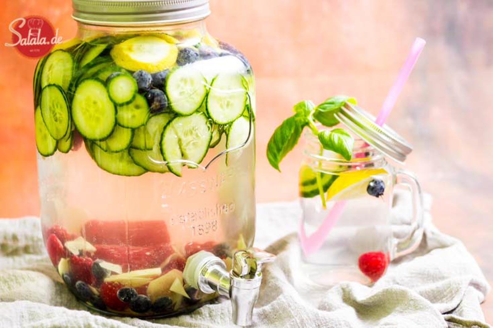 Wasser mit Geschmack Low Carb Getränk ohne Zucker Infused Water mit Xuckersirup