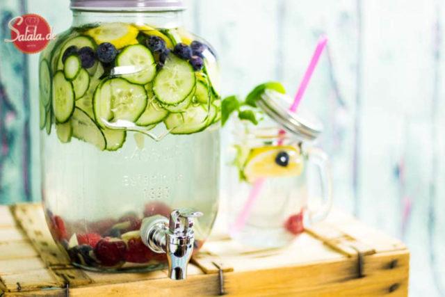 Wasser mit Geschmack Low Carb Getränk ohne Zucker Low Carb Limonade mit Xylit-Sirup