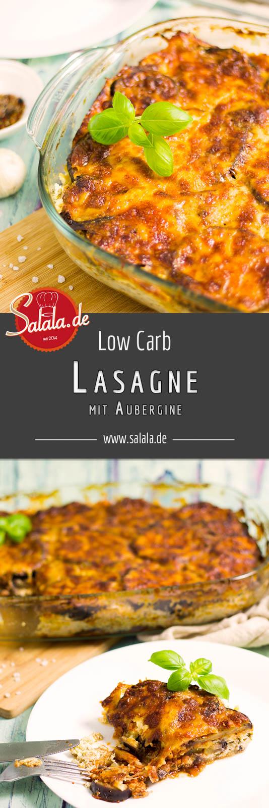 Auberginenlasagne selber machen - by salala.de - vegetarisches Low Carb Rezept ohne Nudeln