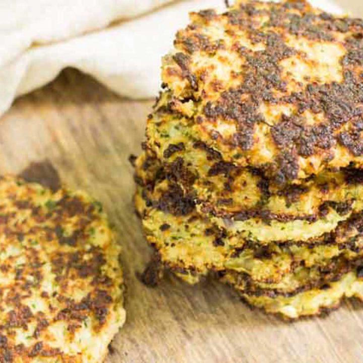 Blumenkohlpuffer mit Käse selber machen by salala.de Low Carb Rezept ohne Mehl