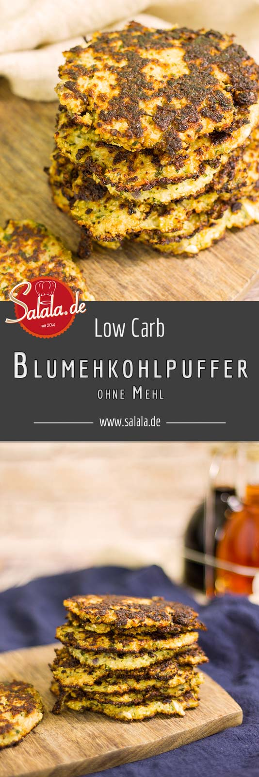 Blumenkohlpuffer selber machen - by salala.de - Low Carb Rezept ohne Mehl