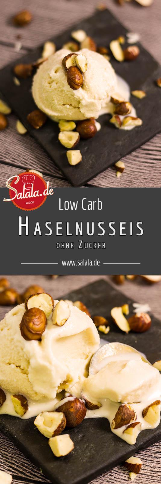 Haselnusseis selber machen - by salala.de - Rezept ohne Zucker und Low Carb