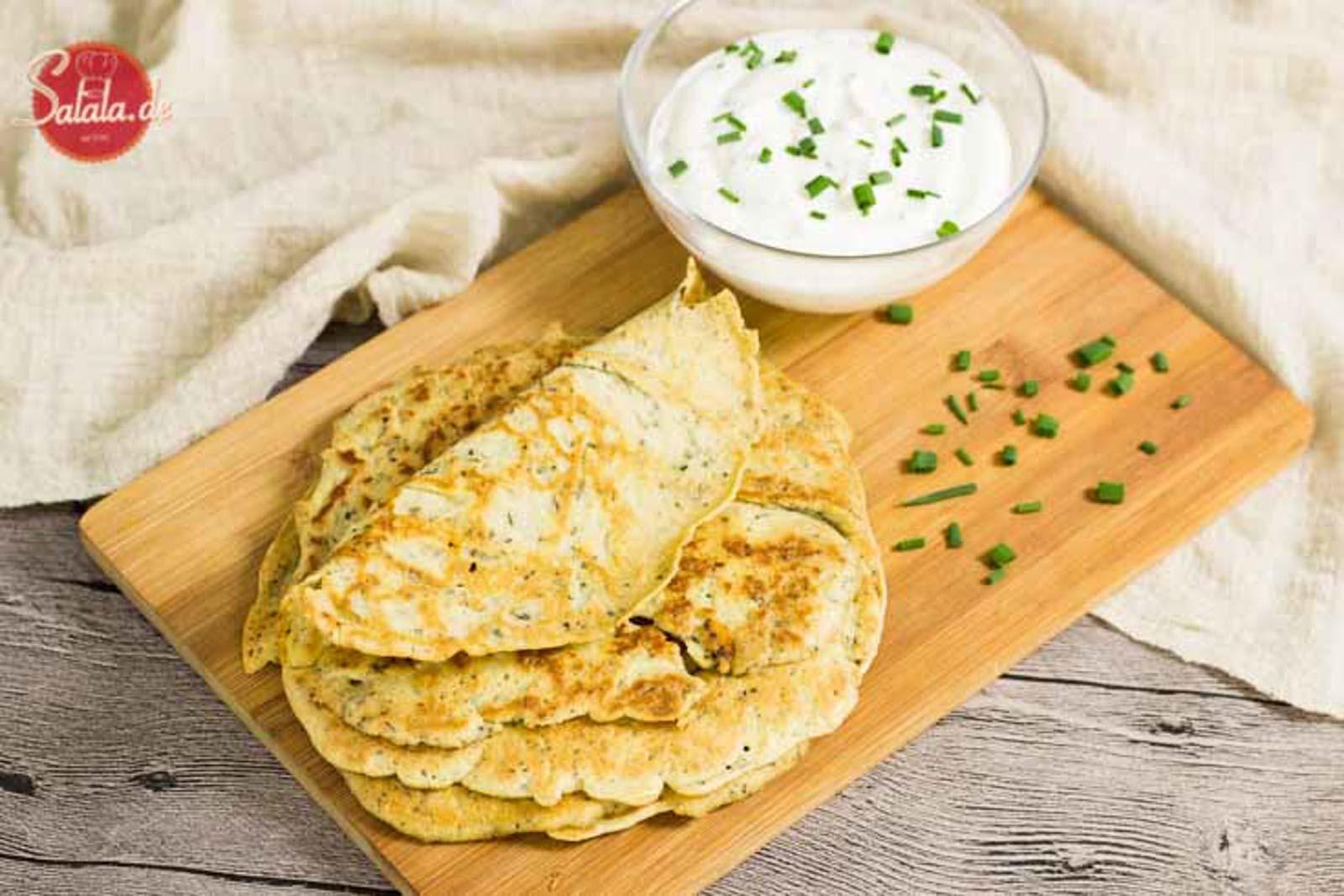 Low Carb Pfannkuchen - by salala.de - mit Quark geeignet für Keto ohne Mehl glutenfrei Rezept