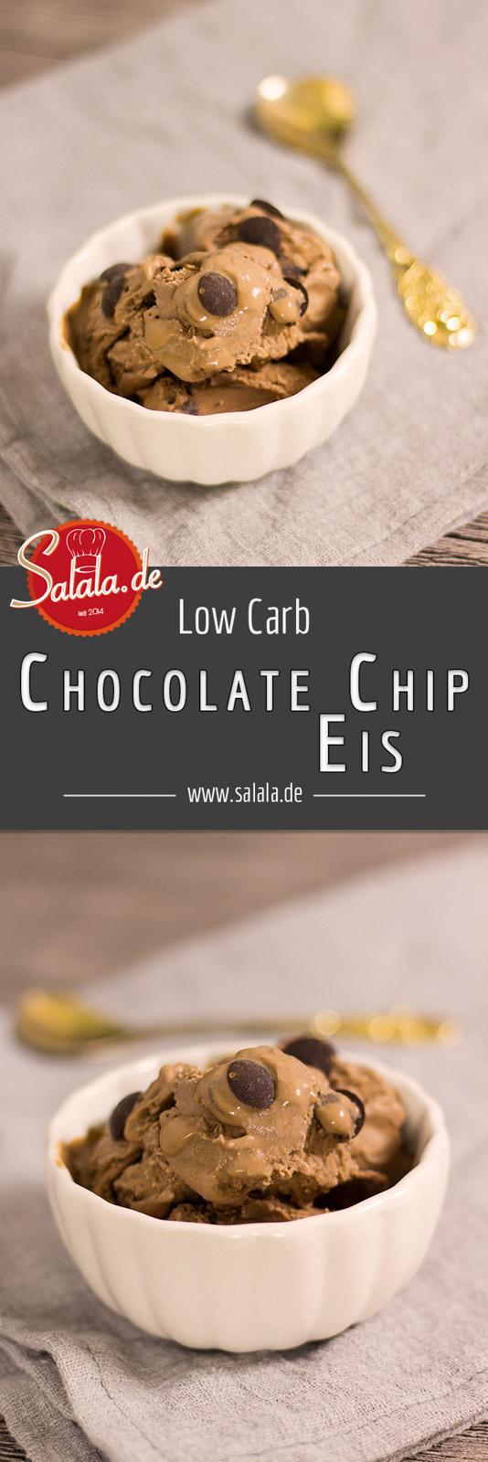 Chocolate Chip Eis ohne Zucker Rezept mit Eismaschine Ibywind YF700 Low Carb