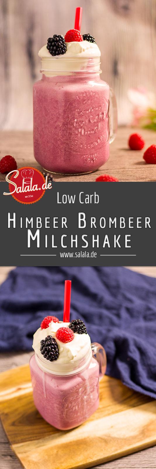 Himbeer Brombeer Milchshake ohne Zucker Low Carb Rezept mit Eismaschine Ibywind YF700