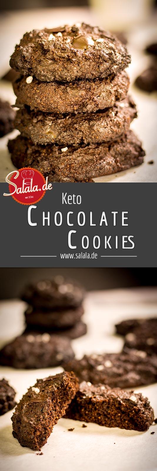 Keto Chocolate Cookies - by salala.de - Rezept Low Carb und glutenfrei ohne Mehl und Zucker