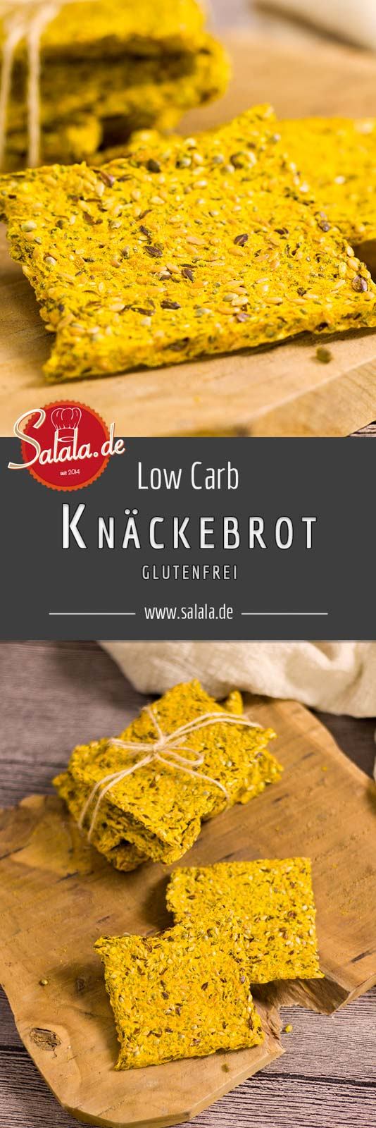 Knäckebrot Low Carb - by salala.de - Rezept ohne Mehl und glutenfrei einfach selber machen