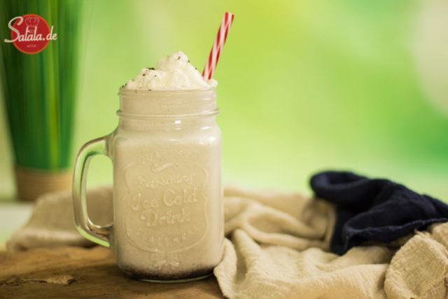 Vanille Milchshake - by salala.de - ohne Zucker Low Carb Rezept mit Eismaschine Ibywind YF700