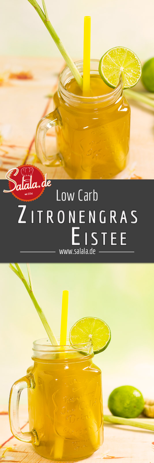 Zitronengras Eistee - by salala.de - ohne Zucker selber machen Low Carb Rezept