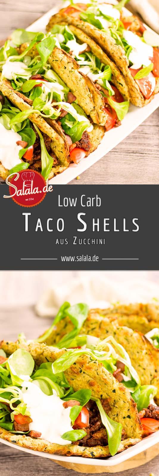 Zucchini Taco Shells - by salala.de - Rezept ohne Mehl Low Carb selbst gemacht