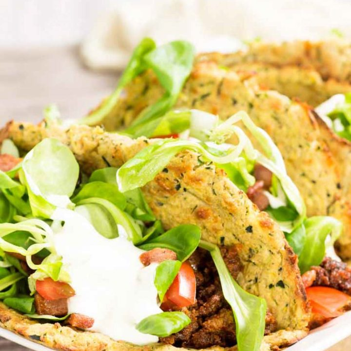 weiche Zucchini Taco Shells by salala.de Rezept ohne Mehl Low Carb glutenfrei selbst gemacht 1