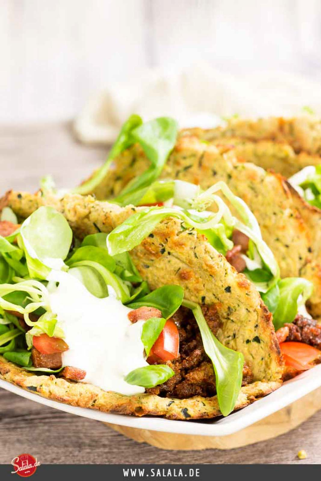 weiche Zucchini Taco Shells - by salala.de - Rezept ohne Mehl Low Carb glutenfrei selbst gemacht