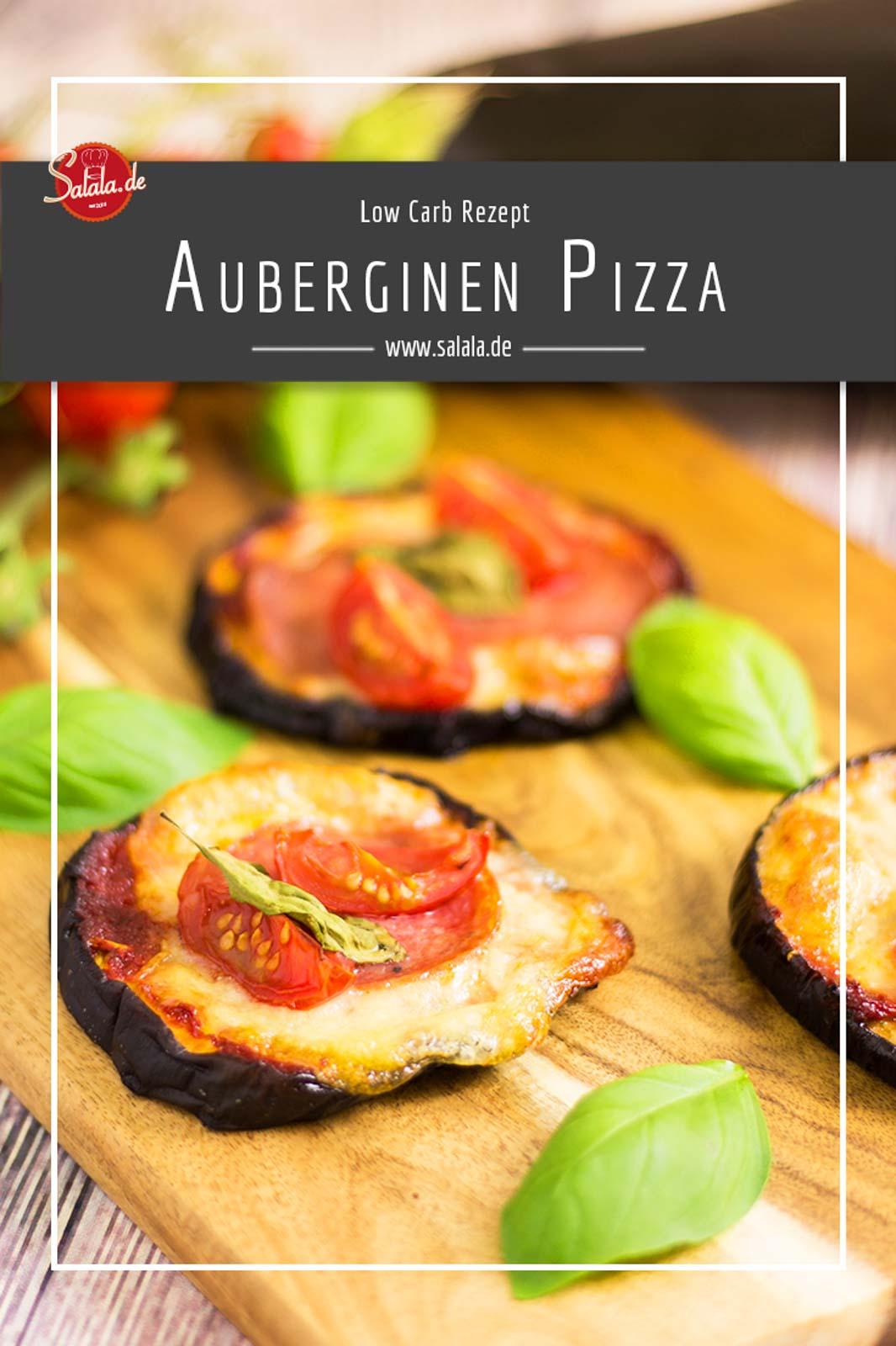 Auberginen Pizza Low Carb Minipizza - by salala.de - Rezept ohne Kohlenhydrate schnell gemacht #pizza #noflour #sugarfree #zuckerfrei #keto